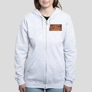 Alaska Map Brand Women's Zip Hoodie