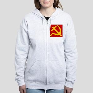 Emblem of Christian Socialism / Women's Zip Hoodie