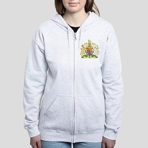 United Kingdom Coat Of Arms Women's Zip Hoodie