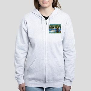 Sailboats & Affenpinscher Women's Zip Hoodie