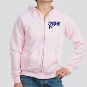STRONGER THAN CANCER (Colon) Women's Zip Hoodie