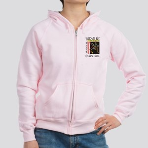 That's How I Roll Wrestling Women's Zip Hoodie
