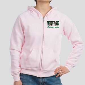 Wrestling It's In My Blood Women's Zip Hoodie