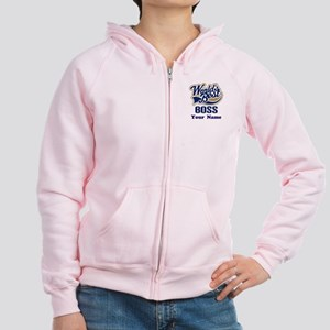 Personalized Boss Women's Zip Hoodie