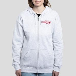 Pink Toe Shoes Women's Zip Hoodie