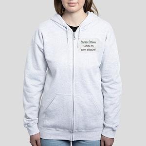 Senior Citizen Discount Women's Zip Hoodie