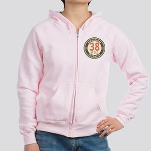 38th Birthday Vintage Women's Zip Hoodie