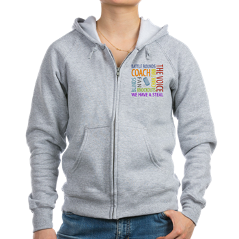 the voice zipper hoodie