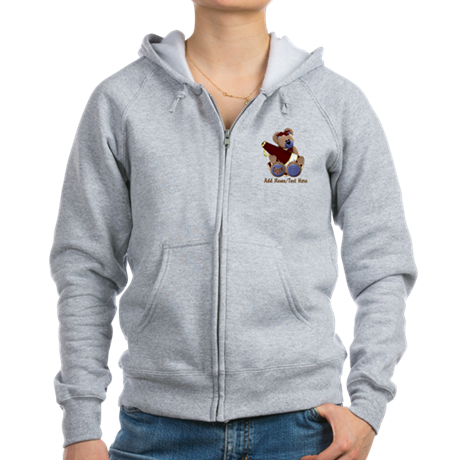 Teddy Chearleader Women's Zip Hoodie