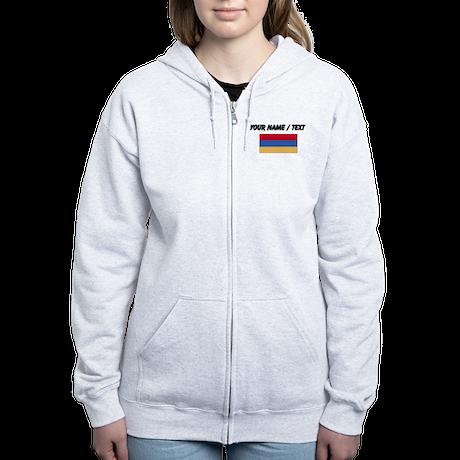 Custom Armenia Flag Zip Hoodie