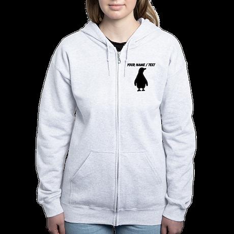 Custom Penguin Silhouette Zip Hoodie