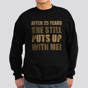 25th Anniversary Humor For Men Sweatshirt (dark)