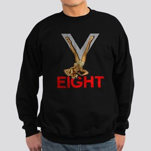 V8 Engine Power Pinup Sweatshirt (dark)