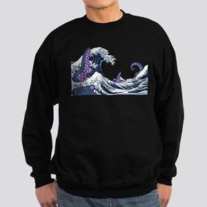 the great wave and the giant Sweatshirt (dark)
