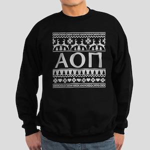 Alpha Omicron Pi Ugly Christmas Sweatshirt (dark)