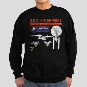 Starship Enterprise Sweatshirt (dark)