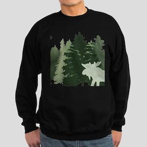 Moose in the Forest Sweatshirt (dark)