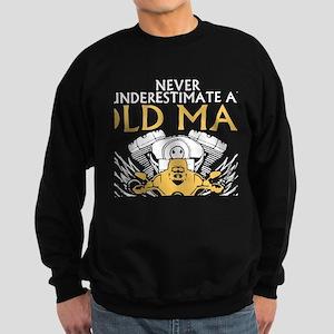 Never Underestimate Old Man With Sweatshirt (dark)