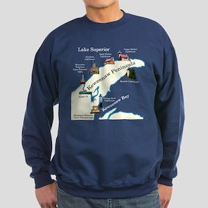Keweenaw Peninsula Lighthouses Sweatshirt (dark)