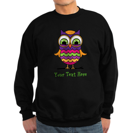 Customizable Whimsical Owl Sweatshirt (dark)