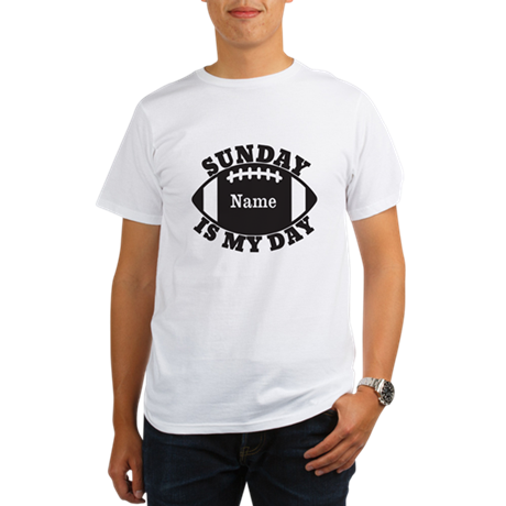 Personalized Sunday is My Day Organic Men's T-Shir