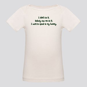 Want to Speak to Gammy Organic Baby T-Shirt