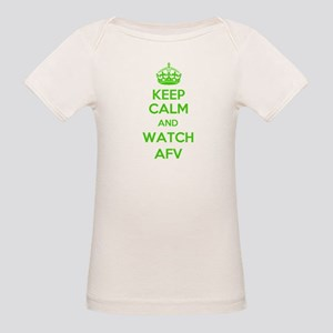 Keep Calm and Watch AFV Organic Baby T-Shirt