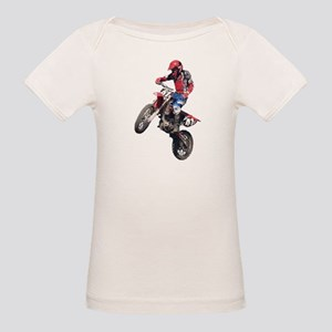 Red Dirt Bike Organic Baby T-Shirt