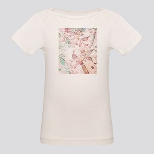 Peach Watercolor Bird and Trees T-Shirt