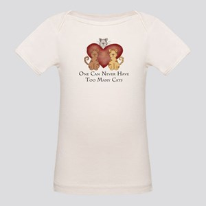 Too Many Cats Organic Baby T-Shirt