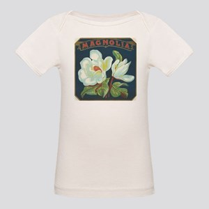 Magnolia antique label Organic Baby T-Shirt