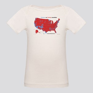 Trump vs Clinton Map Organic Baby T-Shirt