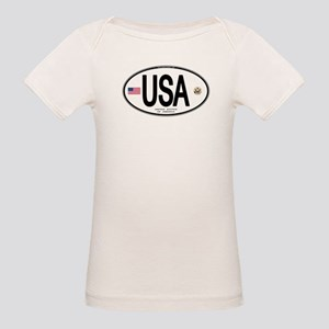 USA Euro-style Country Code Organic Baby T-Shirt
