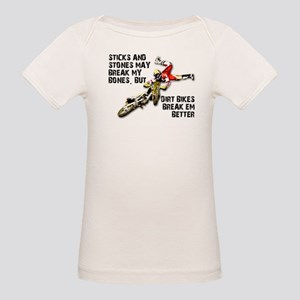Sticks And Stones Dirt Bike Motocross T-Shirt Orga