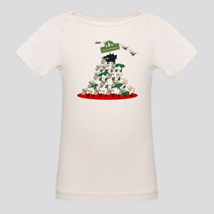 Funny Sheep Christmas Tree Organic Baby T-Shirt