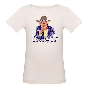 7b126475 Cowboy Up Organic Baby T-Shirts - CafePress