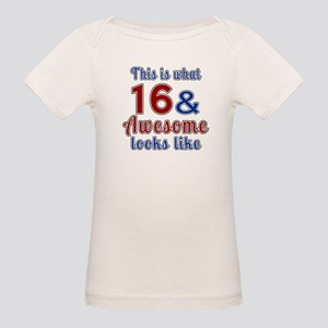 16 Awesome Birthday Designs Organic Baby T-Shirt