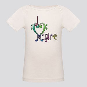 I Love Music Organic Baby T-Shirt