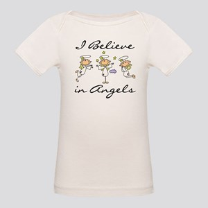 I Believe in Angels Organic Baby T-Shirt