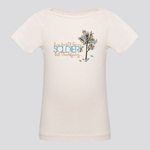 I'm thankful ... Soldier Organic Baby T-Shirt