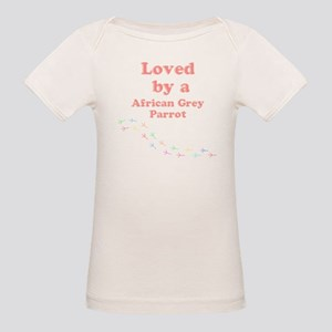 Loved by aAfrican Grey Parrot Organic Baby T-Shirt