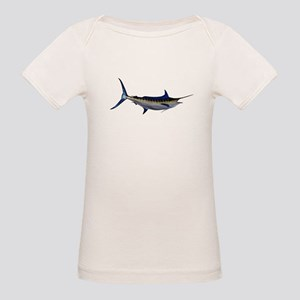 Blue Marlin Fish Organic Baby T-Shirt