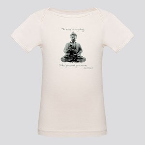 Buddha quote : Mind is Everything Organic Baby T-S