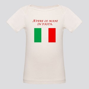 Italian Proverb Finger In The Pie Organic Baby T-S