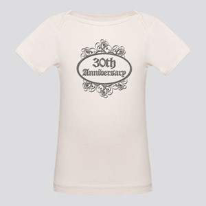 30th Wedding Aniversary (Engraved) Organic Baby T-