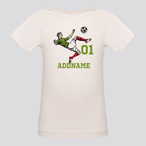 Customizable Soccer Organic Baby T-Shirt