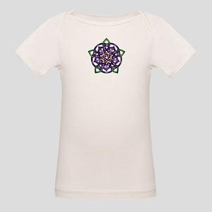 Purple Celtic Rose Organic Baby T-Shirt