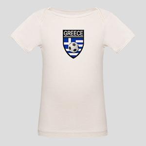 Greece Soccer Patch Organic Baby T-Shirt