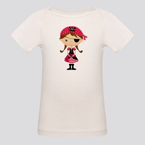 Pirate Girl in Red Organic Baby T-Shirt