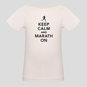 Keep calm and Marathon Organic Baby T-Shirt
